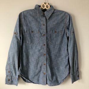 Denim button down long sleeve shirt